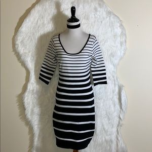 Betsey Johnson Black & White Stripe Dress